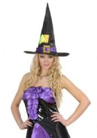 Satin & Velvet Witch Hat (5371)